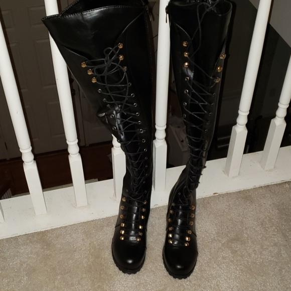 50f08573eeac9 Kaaum Shoes   Extra Tall Combat Boots   Poshmark